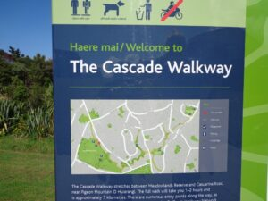 The Cascade walkway map