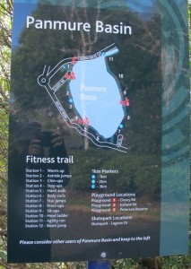 Panmure Fitness Trail 213x300 Family walk around Panmure Basin