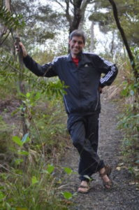 Richard Wagener on an Auckland bush track