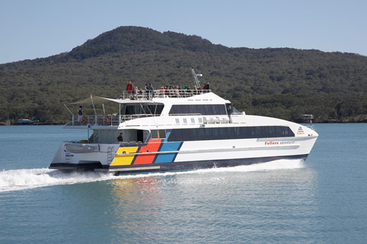 Fullers Ferry takes you to Rangitoto Island