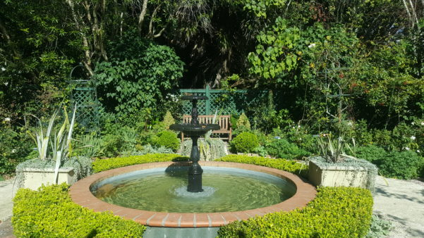 Parnell Rose Gardens Nancy Steen Garden Fountain