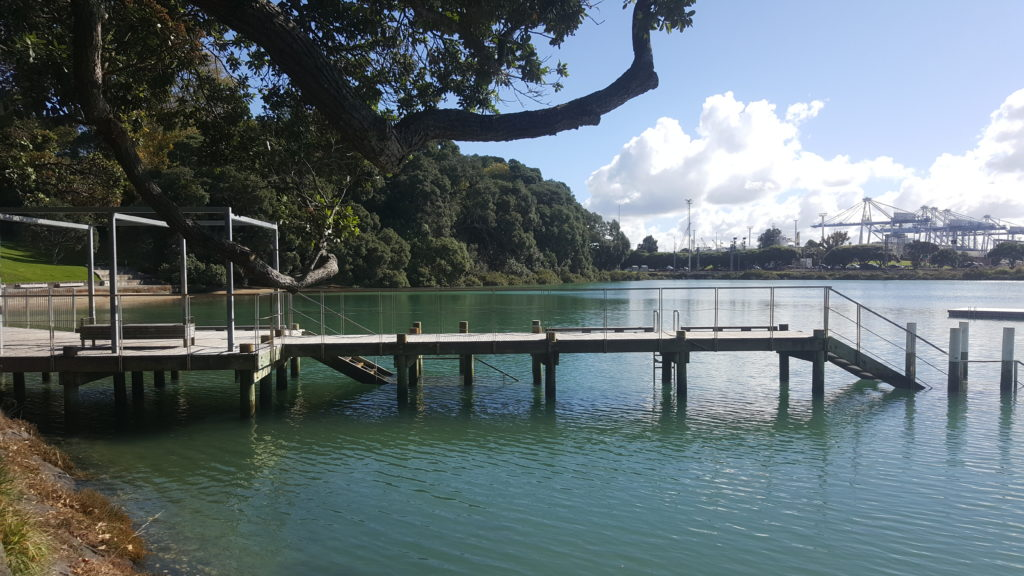 Calm and peaceful Judges Bay jetty - ideal for jumping and swimming