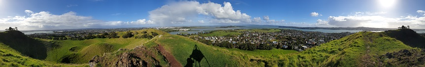 Landscape view of Auckland from Mangere Mountain