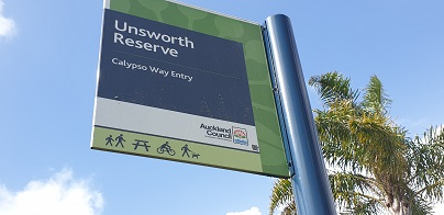 Unsworth Reserve Sign