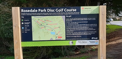 Rosedale Park Frisbee Golf Course layout