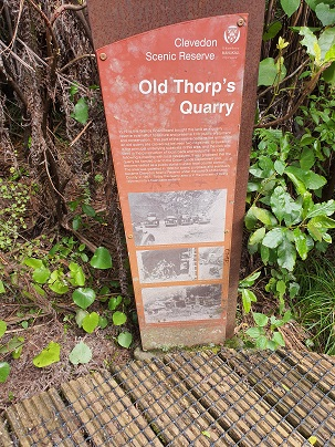 Old Thorps Quarry Sign